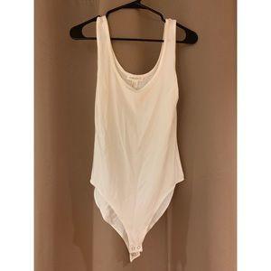 White tank-style bodysuit